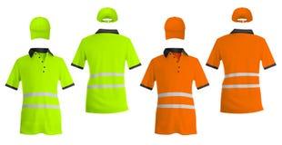 Рубашки и шляпы поло безопасности отражательные. бесплатная иллюстрация