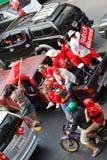 рубашки Таиланд ratchaprasong ралли красные Стоковое Изображение RF