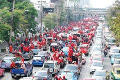 рубашки ratchaprasong красные тайские Стоковая Фотография