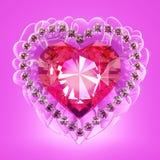 Рубиновое сердце Стоковые Изображения