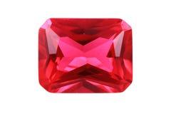 рубиновый изолированный минерал Стоковое Изображение RF