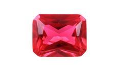 рубиновый изолированный минерал стоковые фото