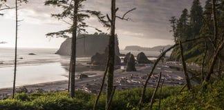 Рубиновый пляж панорамный Стоковая Фотография