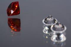 Рубин и диаманты Стоковая Фотография RF