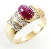 рубин кольца диаманта Стоковое Фото
