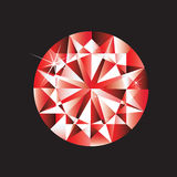 рубин самоцвета Стоковые Изображения
