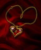 рубин 2 сердец Стоковые Фотографии RF