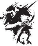 рубин grunge Стоковые Изображения RF