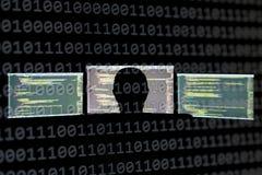 Рубящ сервер для того чтобы украсть или разрушить важную информацию стоковое изображение rf