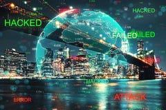 Рубя и phishing концепция стоковое изображение rf