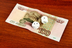 100 рублевок и Dices Стоковые Изображения RF