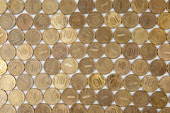 10 рублевок монеток русско Стоковое Фото