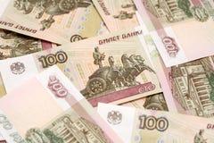 100 рублей предпосылки Стоковое Фото
