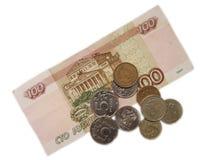 100 рублей Стоковое Изображение