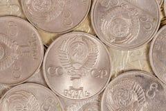 Рубль металла с Советского Союза Стоковое Изображение RF