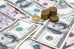 Рубль долларов евро Стоковое Изображение RF