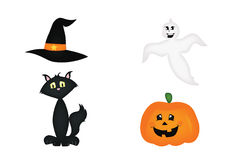 другая тыква икон halloween что-то ведьмы Стоковые Изображения