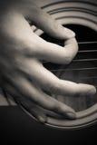 рудоразборка гитары перстов Стоковые Изображения RF