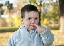 рудоразборка носа ребенка Стоковая Фотография