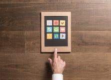 дружественная к Эко таблетка картона Стоковое Изображение