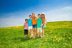 5 друзей в парке Стоковое фото RF