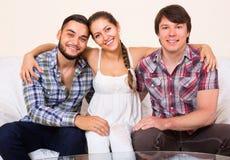 3 друз внутри помещения Стоковая Фотография
