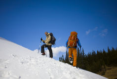 2 друз в горах Стоковое Фото
