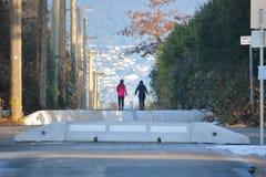 2 друз идя для прогулки Стоковые Фотографии RF