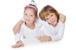 2 друз маленькой девочки Стоковая Фотография