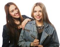 2 друз маленькой девочки имея потеху Стоковое Изображение RF