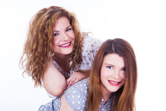 2 друз молодых женщин Стоковое Изображение
