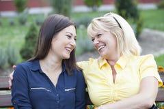 2 друз на проломе в парке Стоковое Изображение RF