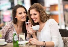 2 друз ослабляя и выпивая кофе Стоковое Изображение RF