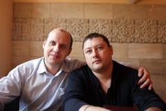 2 друз в кафе Стоковые Изображения