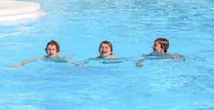 3 друз плавая в ряд Стоковая Фотография RF