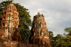 Руина буддийского виска Стоковая Фотография
