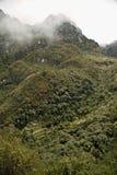 Руина в пути достигнуть Machu Picchu потеряла город Стоковое фото RF