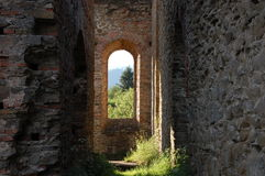 Руина завода выплавкой, Frantiskova Huta, Словакии Стоковая Фотография RF