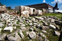руина замока старая Стоковое Изображение