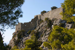 Руина крепости Стоковое Изображение