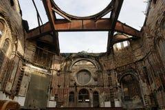 руина пожара спада здания вероисповедная Стоковая Фотография RF