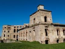 Руина польского замка Krzyztopor Mannerist в городке Ujazd, Польша стоковые изображения rf