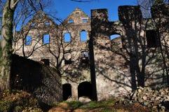 Руины Åšwiny замка, Польша Стоковые Изображения RF