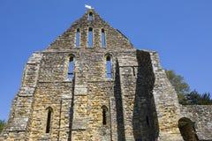 Руины аббатства сражения в восточном Сассекс Стоковая Фотография