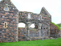 Руины аббатства Iona, Шотландия Стоковые Фотографии RF