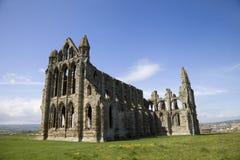 Руины аббатства Whitby, Йоркшира, Англии, Великобритании Стоковые Изображения RF