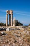 Руины акрополя в rhodos в лете Стоковые Изображения RF