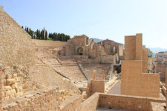 Руины амфитеатра в cartagena, Испании Стоковая Фотография