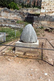 Руины археологических раскопок древнегреческия Дэлфи, Греции Стоковые Фотографии RF
