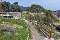 Руины археологических раскопок Aliki, острова Thassos, Греции Стоковая Фотография RF
